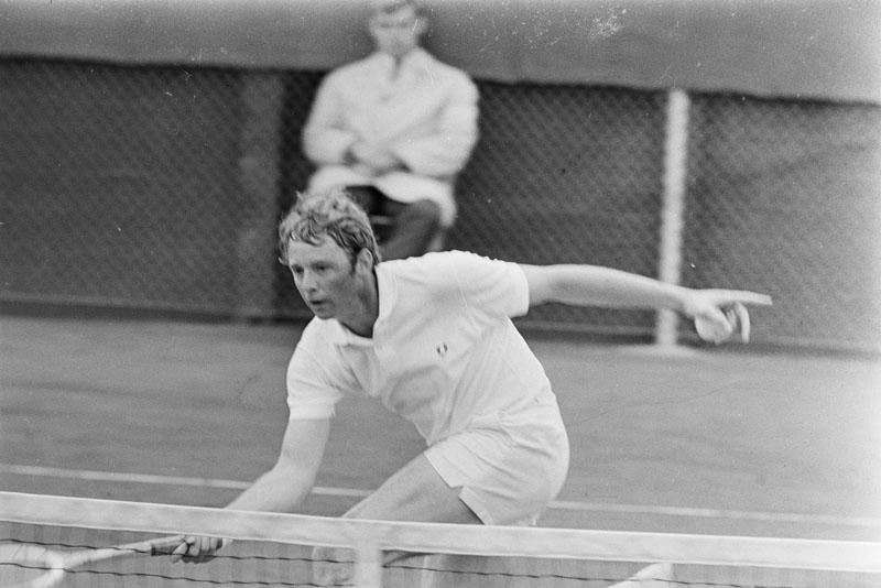 1969-05-09 - Nick Fleury Davis Cup ontmoeting Nederland - Canada heeft Mike Belkin, Canada's top4